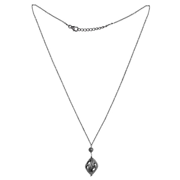 Jeweltique Designs 925 Sterling Silver 2.89 Carat Diamond Chain Necklace