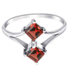 Orchid Jewelry 925 Sterling Silver Prong Setting Engagement Rings with Amethyst, Garnet, Ruby, Lemon Quartz & White Topaz