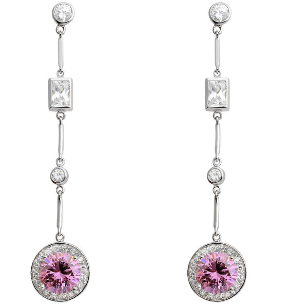 Orchid Jewelry 925 Sterling Silver Cubic Zirconia Long Dangle Earring