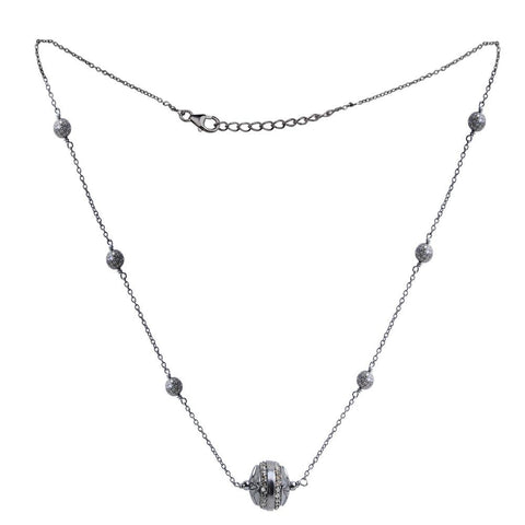 Jeweltique Designs 925 Sterling Silver 2.19 Carat Diamond Necklace
