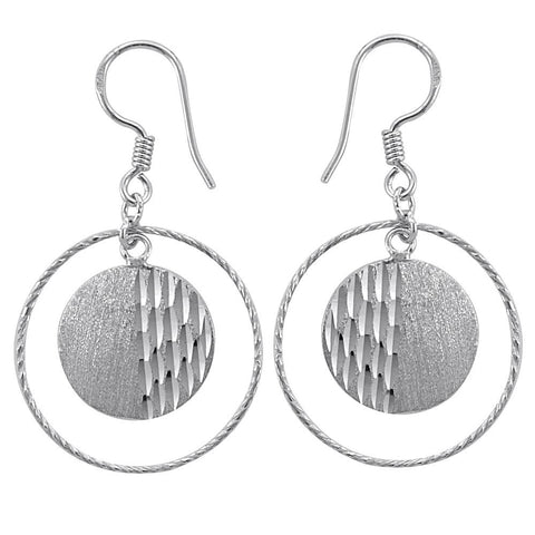 Essence Jewelry 925 Sterling Silver Textured Earrings