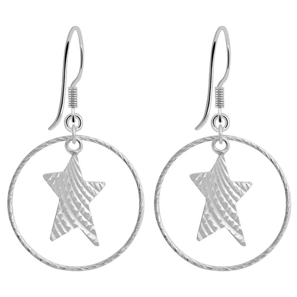 Essence Jewelry 925 Sterling Silver Star Earrings