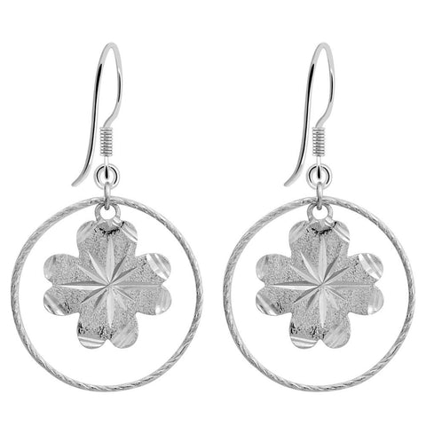Essence Jewelry 925 Sterling Silver Circle Dangle Earrings