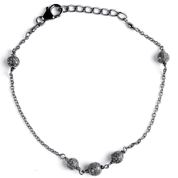 Jeweltique Designs 925 Sterling Silver 1.22 Carat Diamond Chain Bracelet