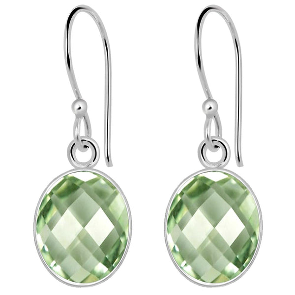 Orchid Jewelry 925 Sterling Silver Womens Green Amethyst Earrings
