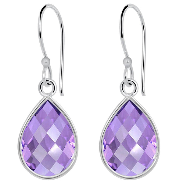 Orchid Jewelry 7.50 Carat Amethyst 925 Sterling Silver Earrings for Womens