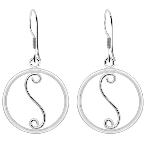 Essence Jewelry Handmade Sterling Silver Swirl Design Earrings