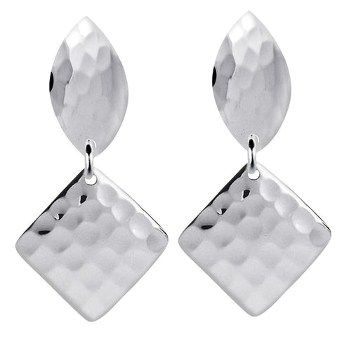 Essence Jewelry Sterling Silver Hammered Dangle Earrings