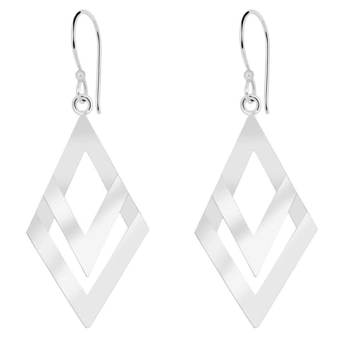 Essence Jewelry Sterling Silver Geometric Dangle Earrings