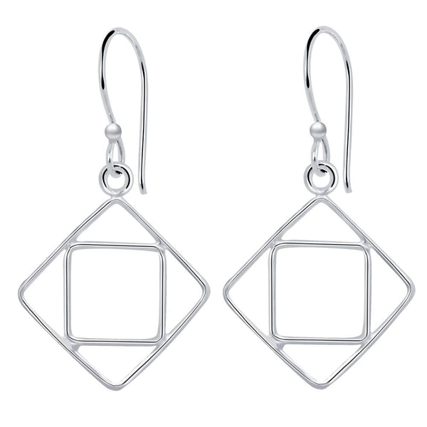 Essence Jewelry Sterling Silver Dangle Geometric Earrings