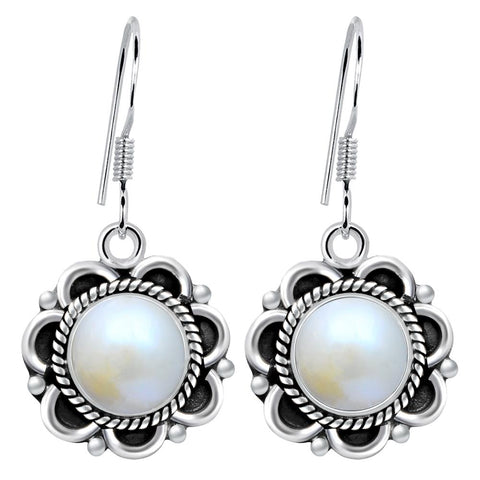 Orchid Jewelry 5.00 Carat Cultured Pearl Sterling Silver Dangle Earrings