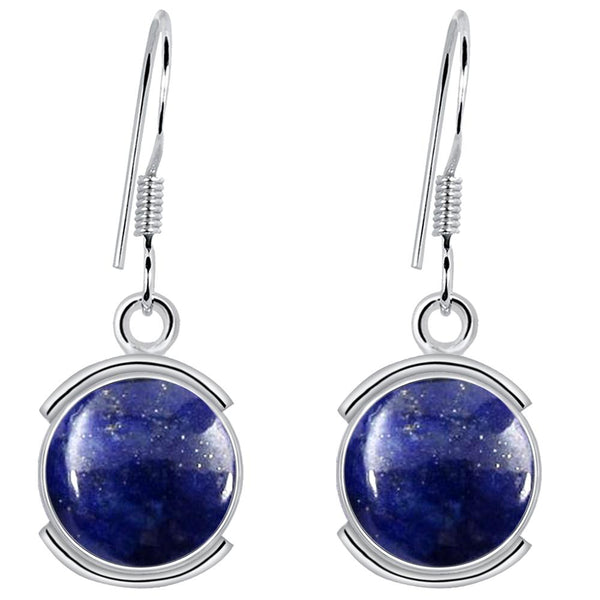 Orchid Jewelry 8.00 Carat Lapis 925 Sterling Silver Jewelry Earrings