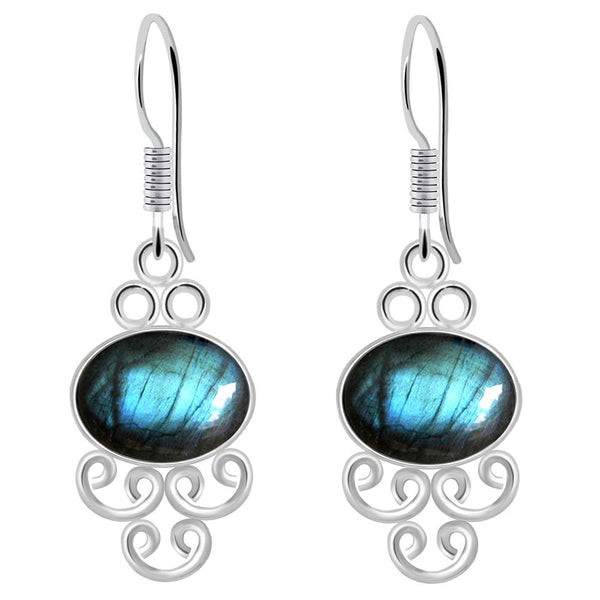 Orchid Jewelry 8.20 Carat Labradorite 925 Sterling Silver Earrings for Womens