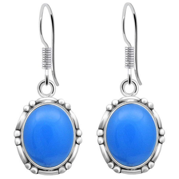 Orchid Jewelry 925 Sterling Silver Womens Chalcedony Earrings