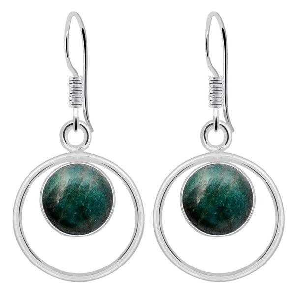 Orchid Jewelry 925 Sterling Silver 4.00 Carat Amazonite Dangle Earrings