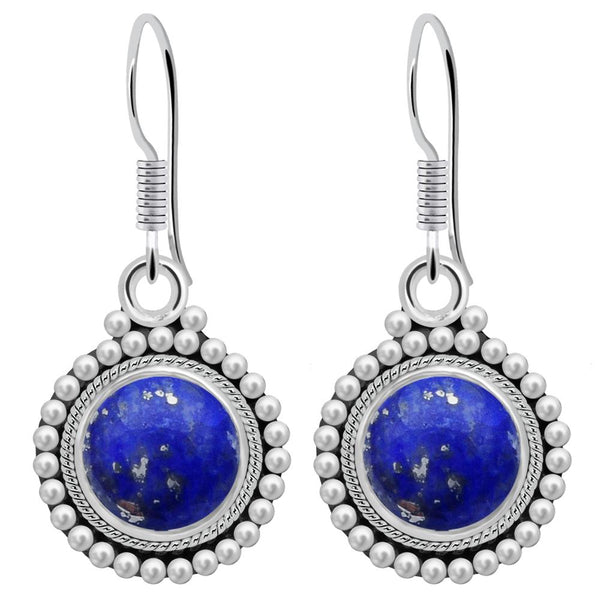 Orchid Jewelry 4.20 Carat Lapis Lazuli 925 Sterling Silver Dangle Earrings