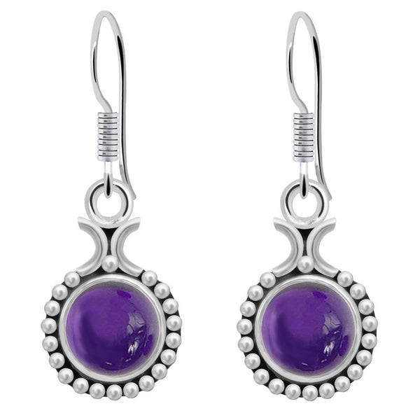Orchid Jewelry 925 Sterling Silver 3.90 Carat Amethyst Earrings for Women's