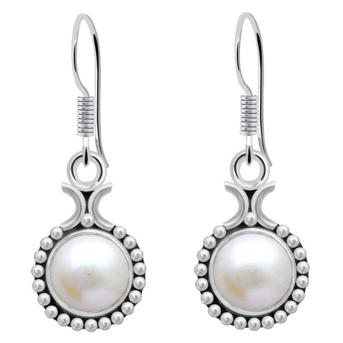 Orchid Jewelry 4.30 Carat Cultured Pearl Sterling Silver Birthstone Earrings