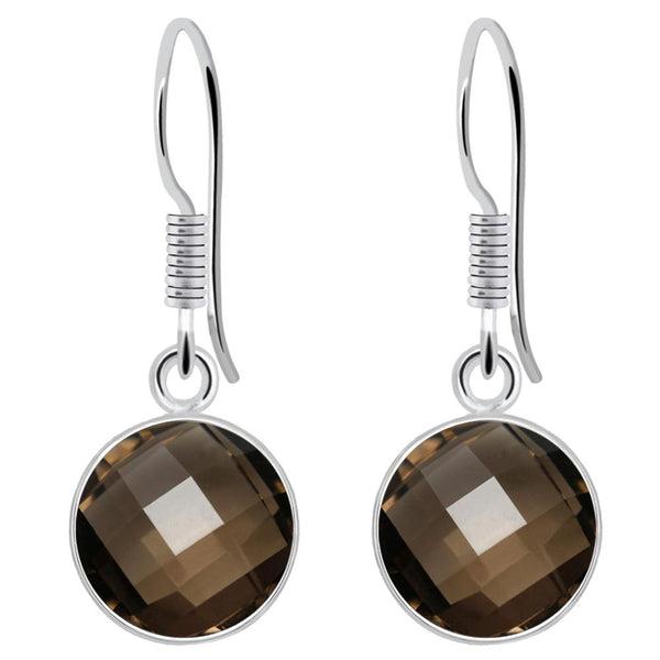 Orchid Jewelry 6.00 Carat Smoky Quartz 925 Sterling Silver Dangle Earrings