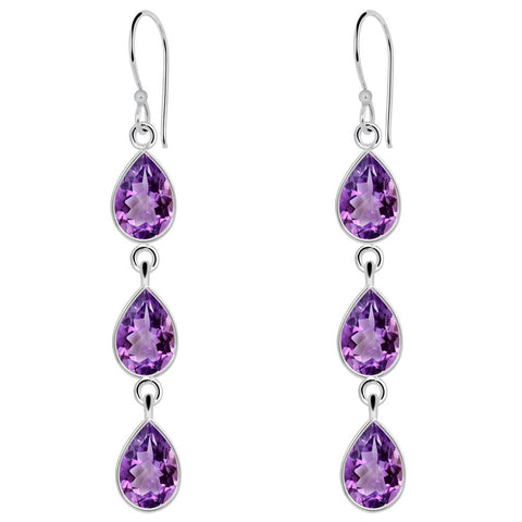 Orchid Jewelry 925 Sterling Silver 4.50 Carat Amethyst Earrings for Women's