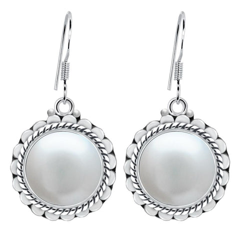 Orchid Jewelry 925 Sterling Silver 8.50 Carat Pearl Earrings