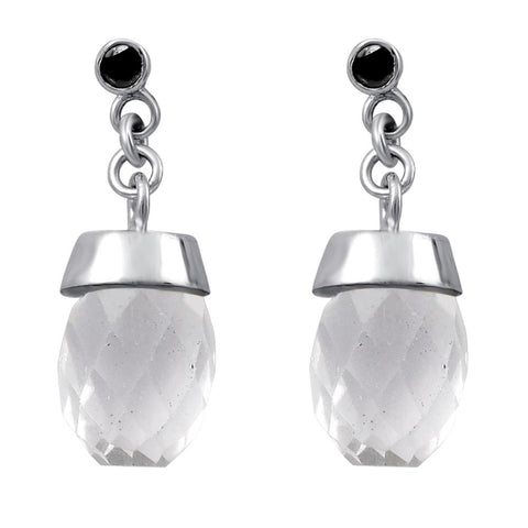 Orchid Jewelry Classic Crystal & Sapphire Drop Earrings Antique 925 Silver For A Vintage Look