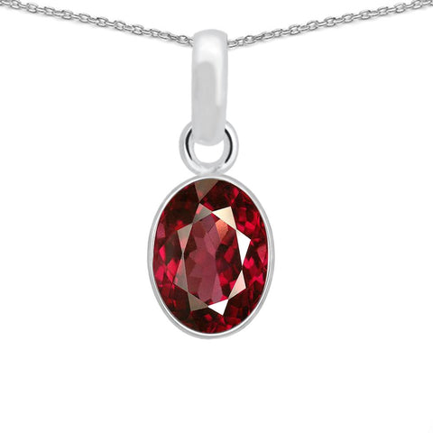 Orchid Jewelry 2.55 Carat Ruby 925 Sterling Silver Necklace