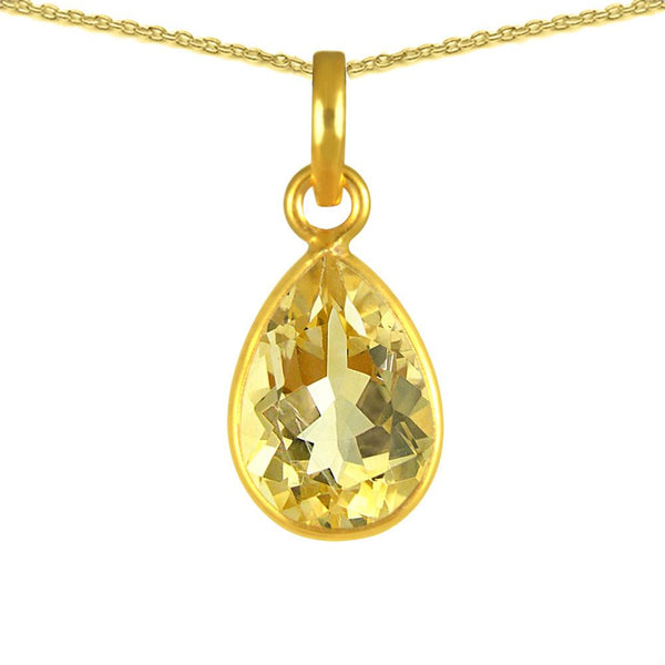 Gold Plated 925 Sterling Silver Orchid Jewelry 3.5ct TGW Genuine Citrine Yellow Necklace
