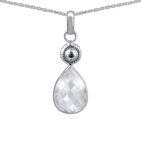 Orchid Jewelry 6.40 Carat Genuine Rose Quartz 925 Sterling Silver Necklace
