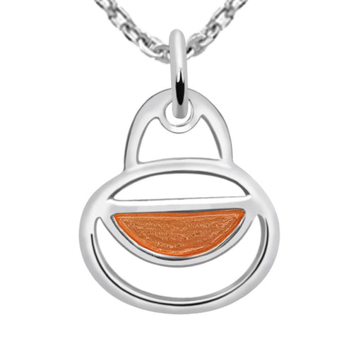 Essence Jewelry925 sterling silver Enamel necklace