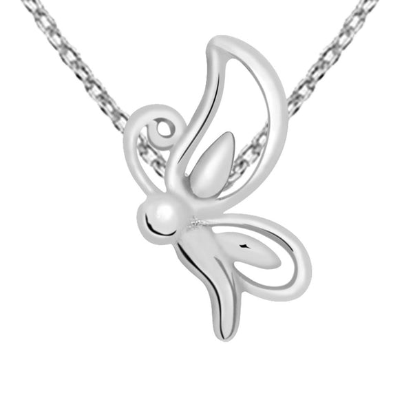 Essence Jewelry 925 Sterling Silver Exclusive Butterfly Charms Necklace