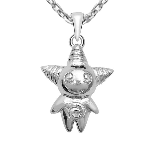 Essence Jewelry 925 Sterling Silver aliens Status Pendant Necklace