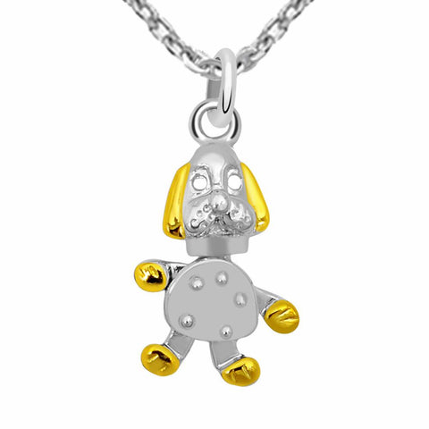 Essence Jewelry 925 Sterling Silver Two Tone Necklace