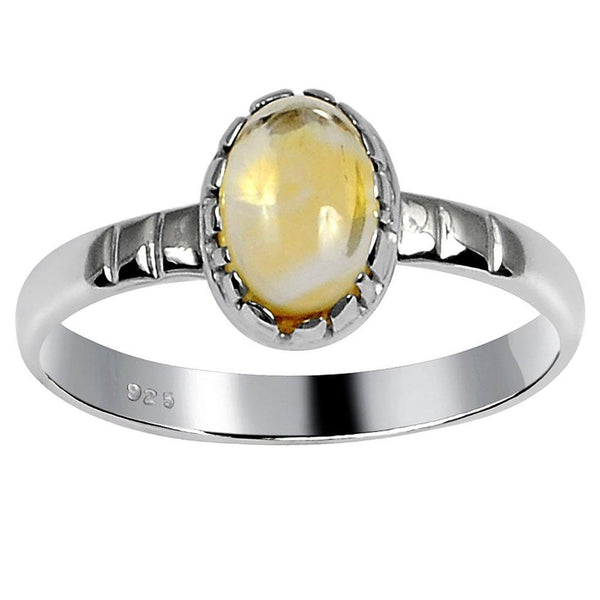 Orchid Jewelry 0.90 Carat Weight Genuine Citrine 925 Sterling Silver Ring