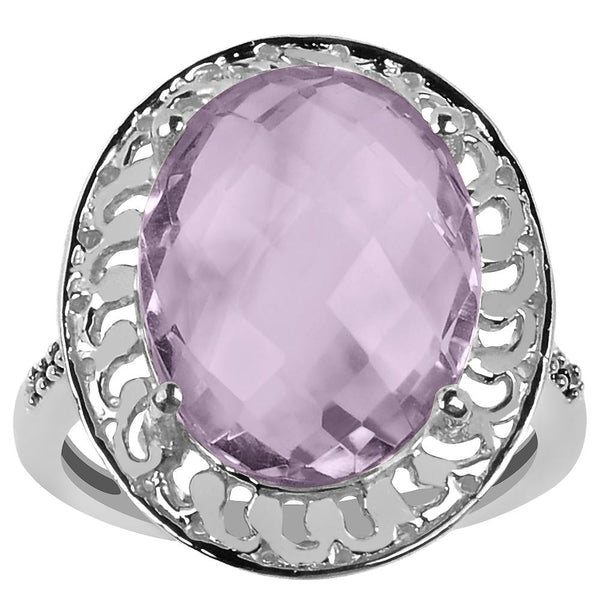 Orchid Jewelry 7.50 Carat Genuine Pink Amethyst & Spinel 925 Sterling Silver Ring