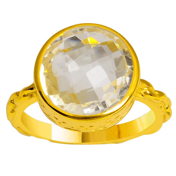 Orchid Jewelry 5.20 Carat Genuine Citrine 925 Sterling Silver Gold Plated Ring