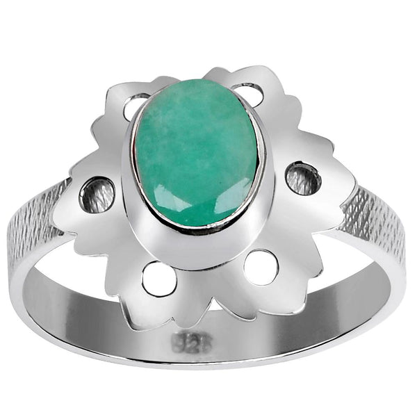 Orchid Jewelry 1 2/9 Carat Emerald 925 Sterling Silver Ring