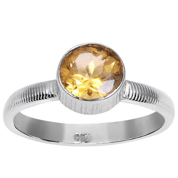 Orchid Jewelry 3.05 Carat Weight Genuine Citrine 925 Sterling Silver Ring