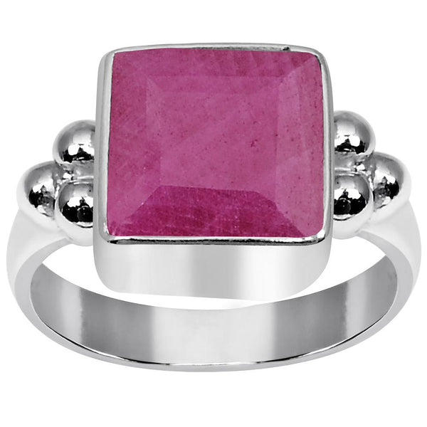 Orchid Jewelry 2.90 Carat Weight Genuine Ruby 925 Sterling Silver Ring