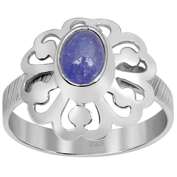 Orchid Jewelry 1.15 Carat Weight Genuine Tanzanite 925 Sterling Silver Ring