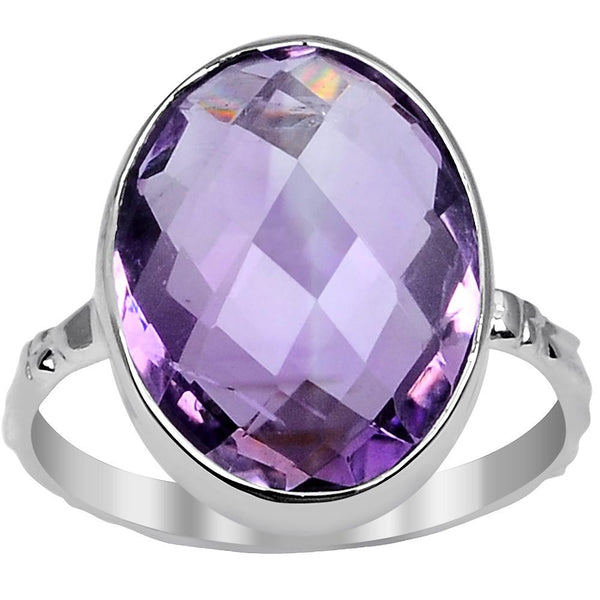 Orchid Jewelry 7.60 Carat Amethyst 925 Sterling Silver Ring