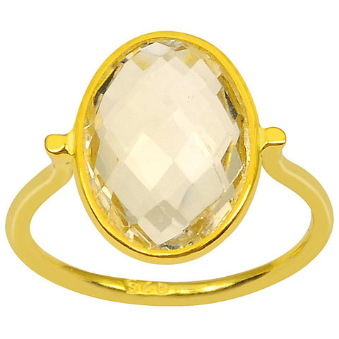 Orchid Jewelry 4.85 Carat Genuine Citrine 925 Sterling Silver Ring