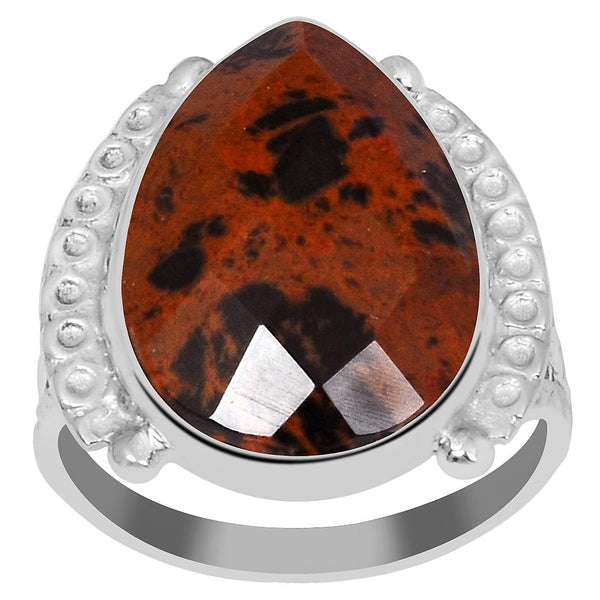 Orchid Jewelry's 6.65 Carat Genuine Mahogany Jasper 925 Sterling Silver Ring