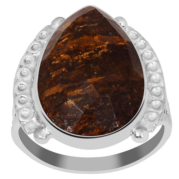 Orchid Jewelry's 4.70 Carat Genuine Bronzite Gemstone 925 Sterling Silver Ring