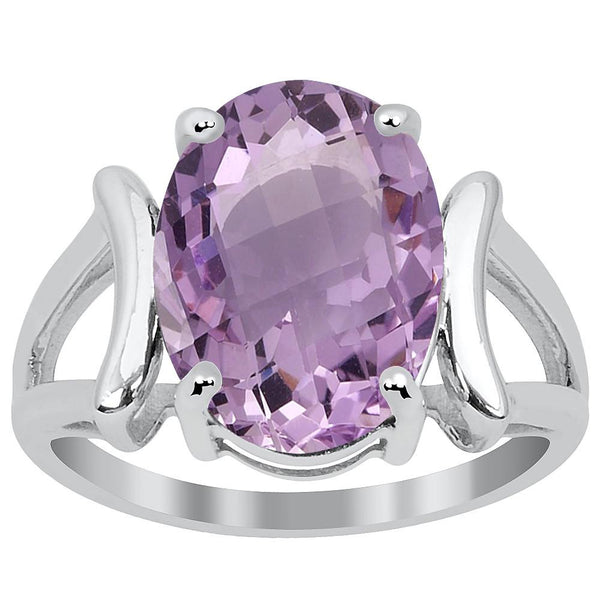 Orchid Jewelry 3.75 Carat Amethyst 925 Sterling Silver Ring