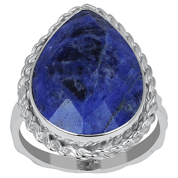 Orchid Jewelry 7.20 Carat Sodalite 925 Sterling Silver Ring