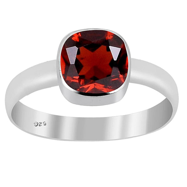 Orchid Jewelry 1.20 Carat Garnet Sterling Silver Ring