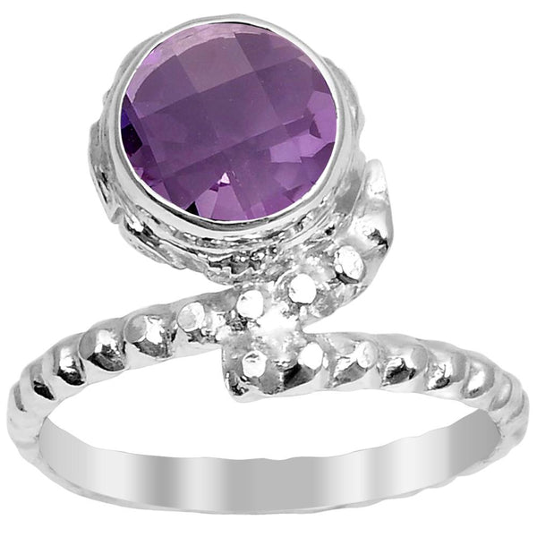 Orchid Jewelry 1.90 Carat Genuine Amethyst Sterling Silver Ring