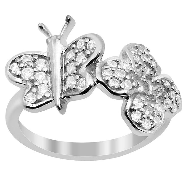 Orchid Jewelry 925 Sterling Silver 1.18 Carat Cubic Zirconia Ring
