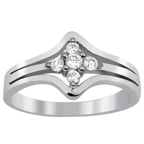 Orchid Jewelry 0.28 Carat Cubic Zirconia  925 Sterling Silver Ring
